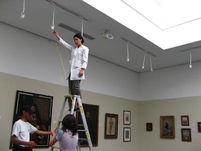 Medición de condiciones ambientales- Foto, Museo de Arte de Tolima