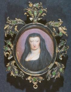 Anónimo: Miniatura de Mariana de Neoburgo como viuda. Museo Nacional de Artes Decorativas, Madrid