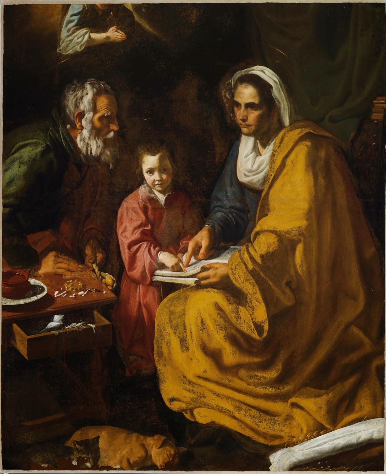 Tras la pista de Velázquez: La educación de la Virgen