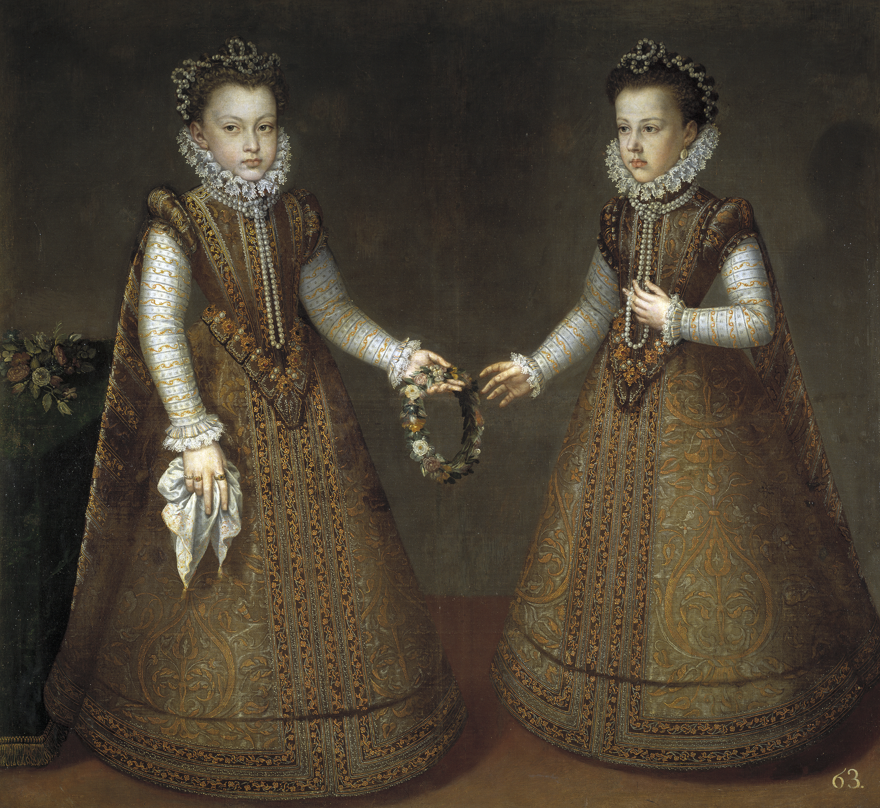 Alonso Sánchez Coello: La Infantas Isabel Clara Eugenia y Catalina Micaela, 1575. Museo Nacional del Prado, Madrid.
