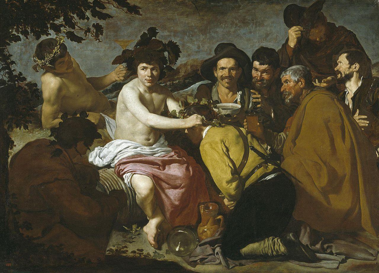 Diego de Silva y Velázquez: El triunfo de Baco o Los Borrachos. Museo Nacional del Prado, Madrid.