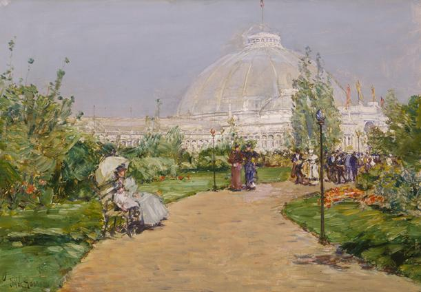 Childe Hassam, Pabellón de Horticultura, 1893. Terra Foundation for American Art.