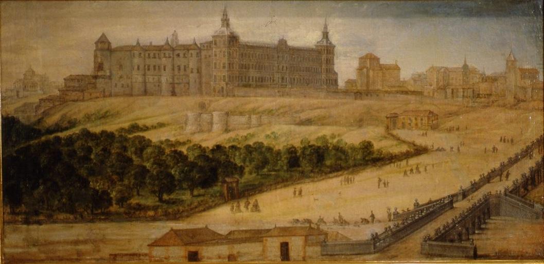 Félix Castello: Vista del Alcázar Real de Madrid, ca. 1630-1640. Museo de Historia de Madrid.
