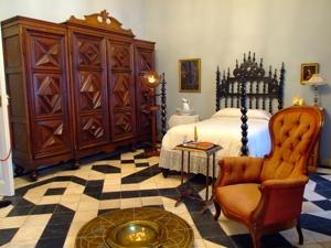 Vista del interior del Dormitorio del Marqués.