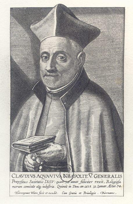 Grabado de Claudio Acquaviva, general de los Jesuitas.