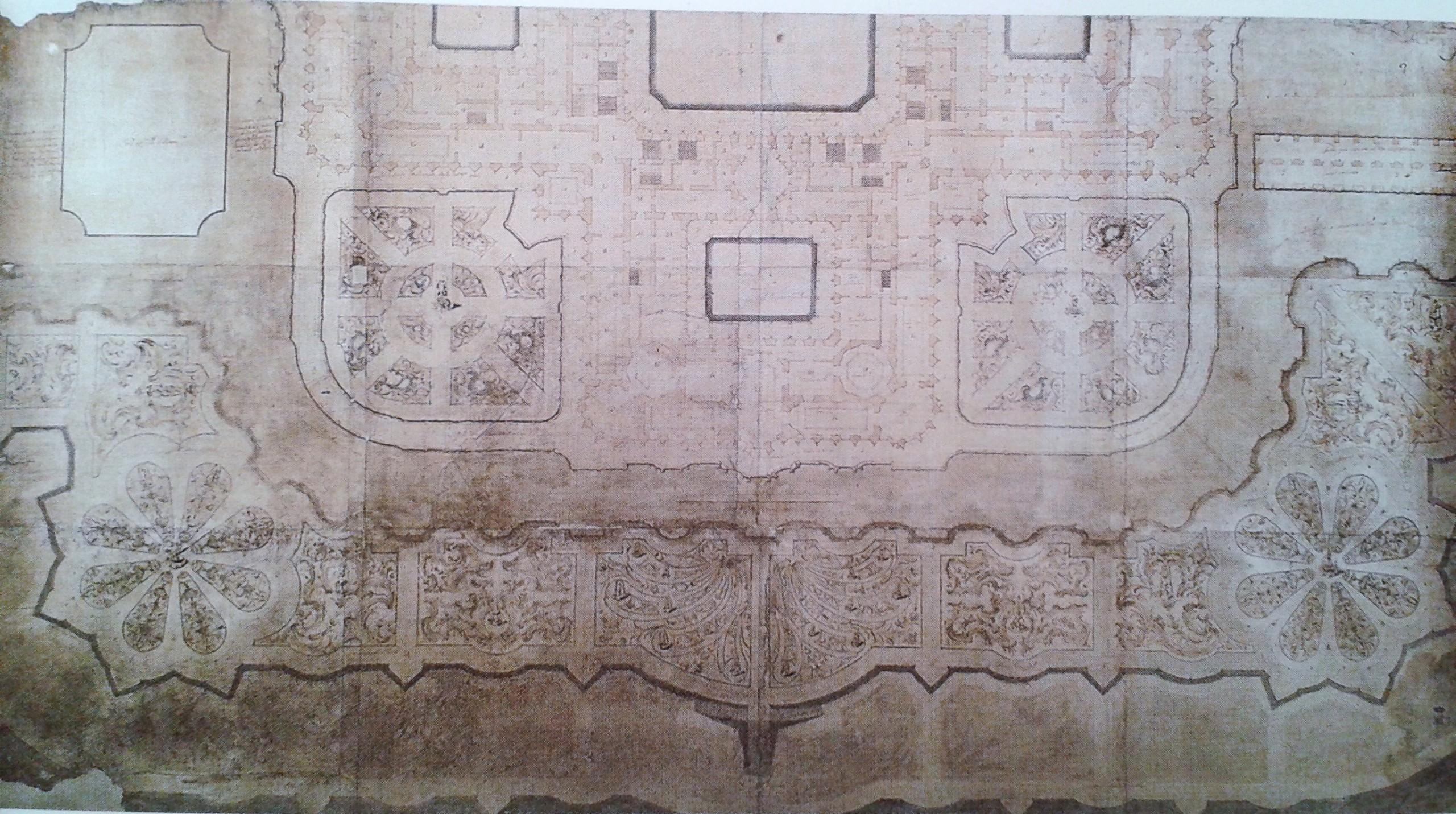 Pedro de Ribera: Articulación de los jardines alrededor del Palacio.