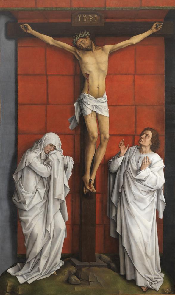 Rogier Van der Weyden: La Crucifixión. Patrimonio Nacional.
