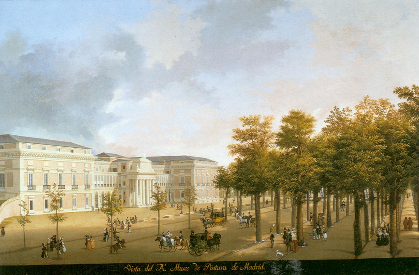 Fernando Brambilla: Vista del Real Museo de Pintura. Madrid, Patrimonio Nacional.