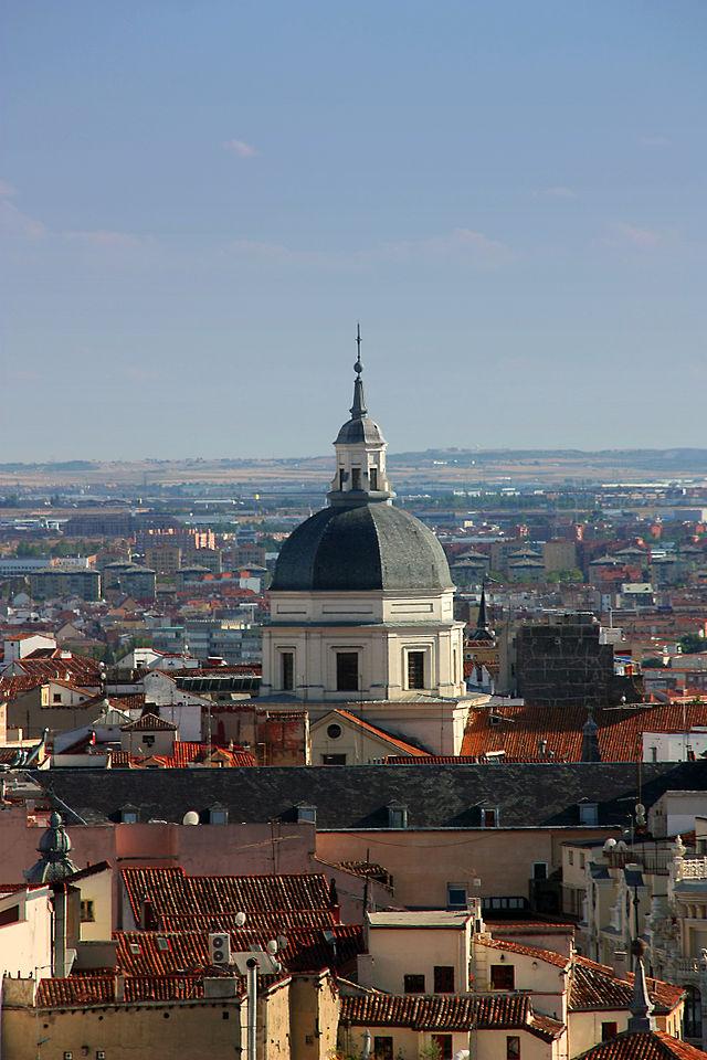 Vista de la Cúpula encamonada de la Colegiata de San Isidro.