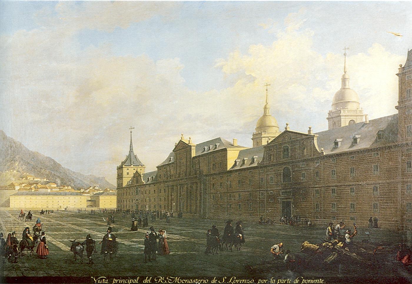 Fernando Brambilla: Vista principal del Real Monasterio por la parte de poniente. Madrid, Patrimonio Nacional.