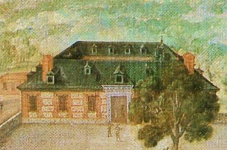 Detalle de la Casa de Oficios de la Torre de la Parada.