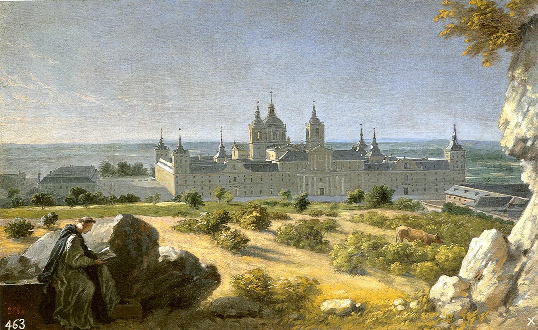Miguel Ángel Houasse: Vista del Monasterio de El Escorial desde Poniente. Madrid, Patrimonio Nacional.
