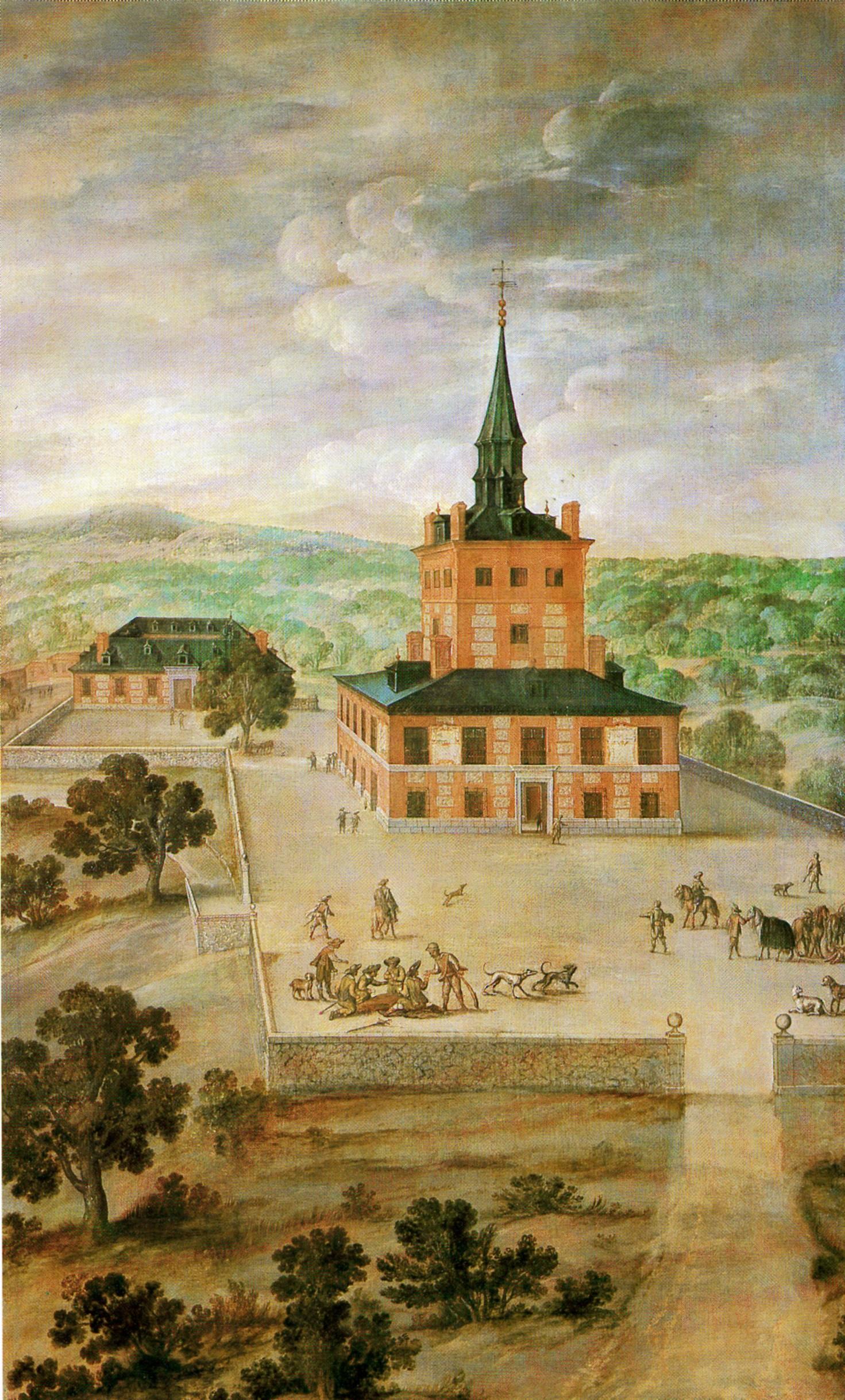 Anónimo madrileño: Vista de la Torre de la Parada. Madrid, Museo de Historia.