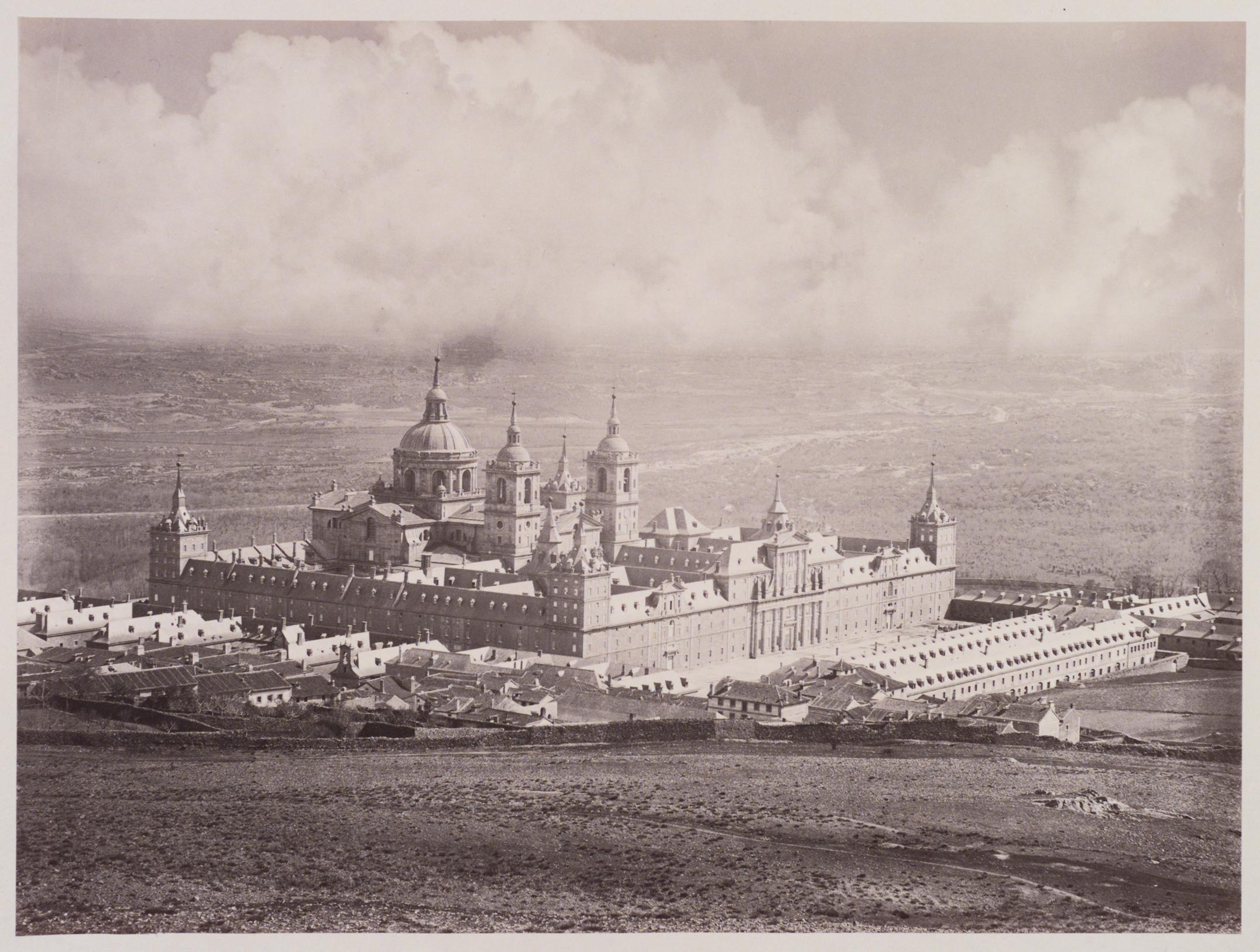 Jean Laurent: Vista del Monasterio de El EScorial. ca. 1876.