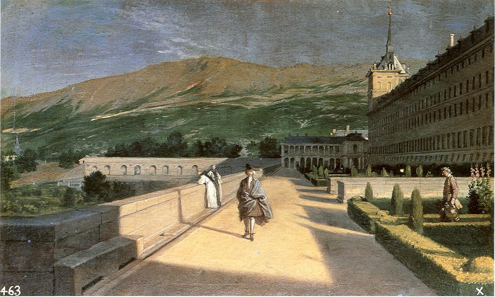 Miguel Ángel Houasse: El jardín de los frailes en El Escorial. Madrid, Museo Nacional del Prado.