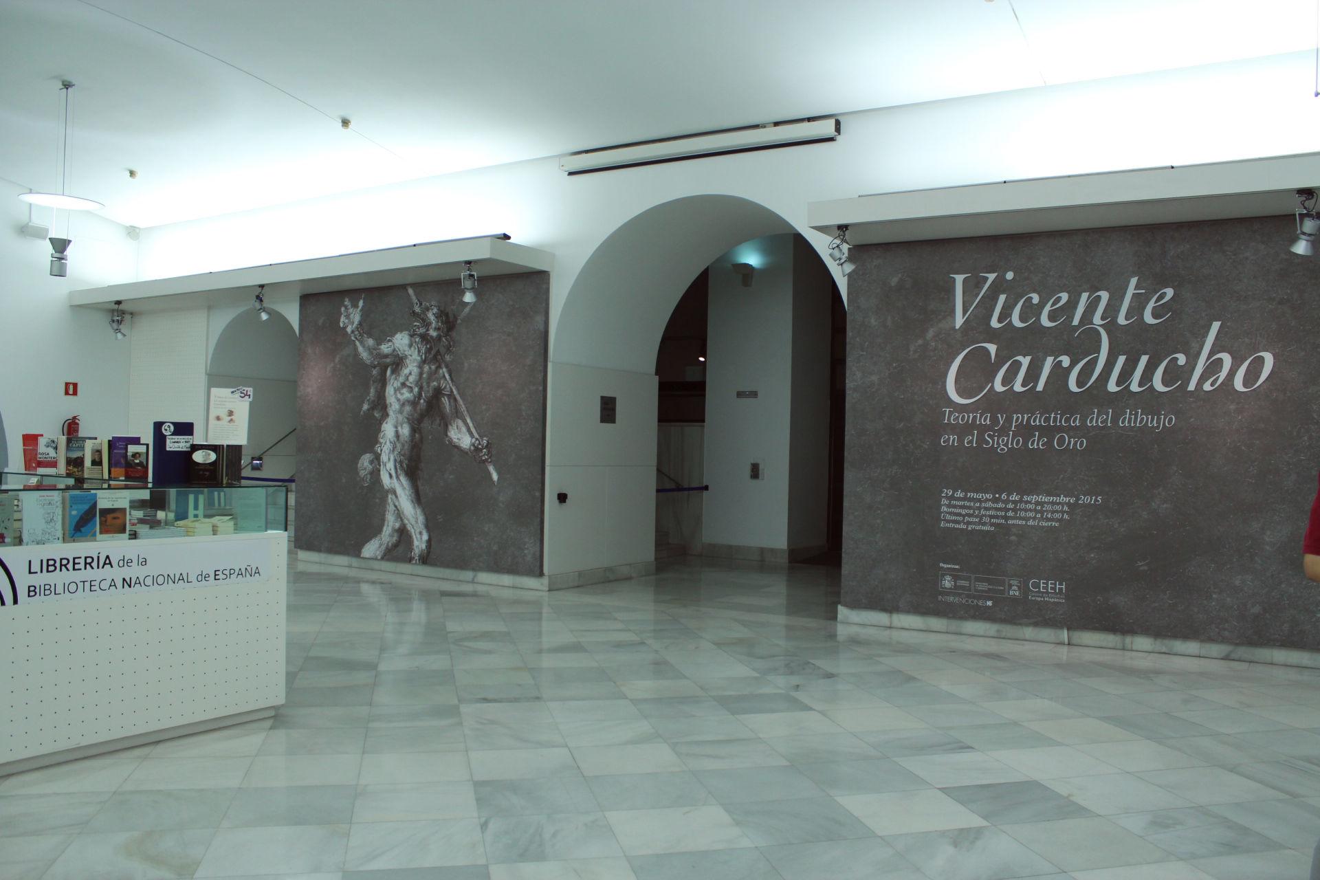 Vista de la entrada de la exposición en la Biblioteca Nacional.