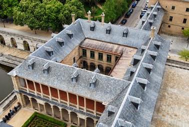 Vista aérea de la Botica de El Escorial.
