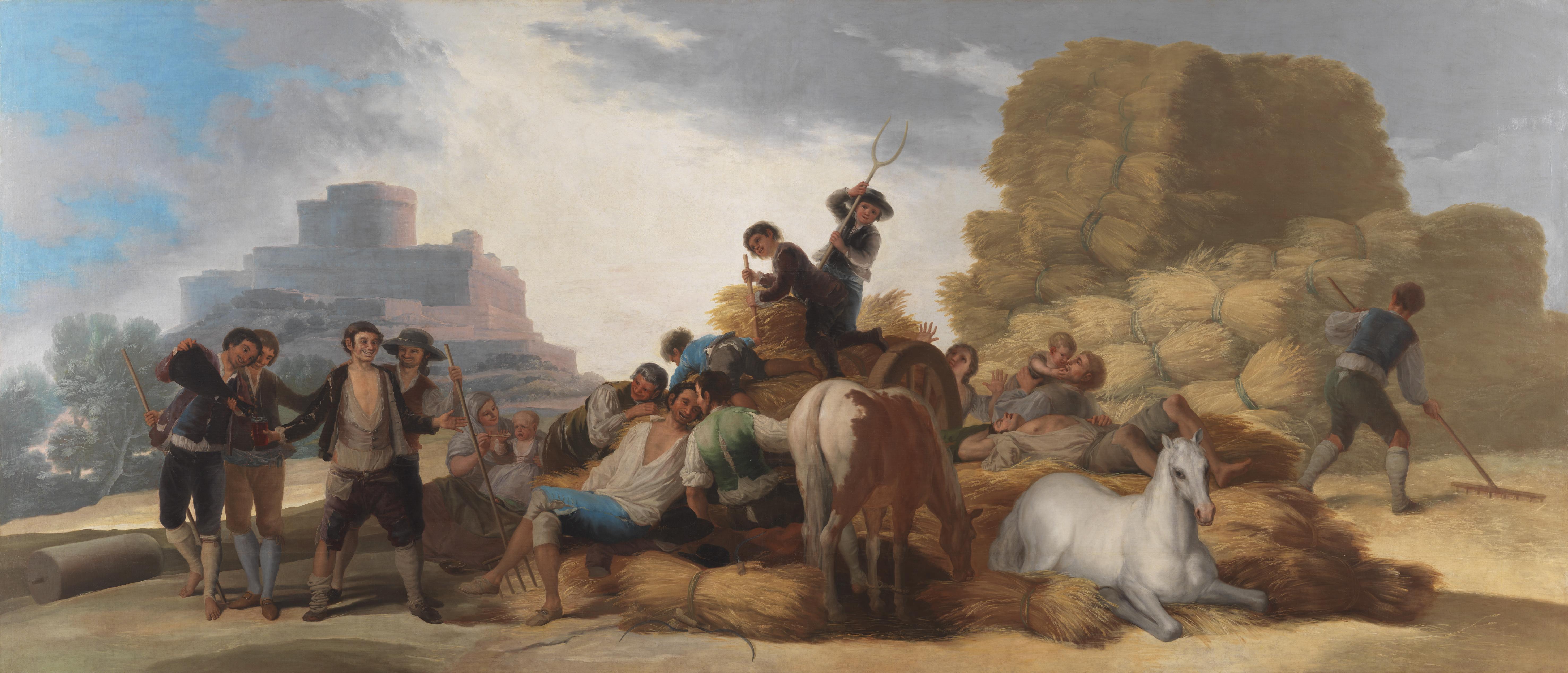 Francisco de Goya: La era o el Verano. Después de la restauración. Museo Nacional del Prado, Madrid.