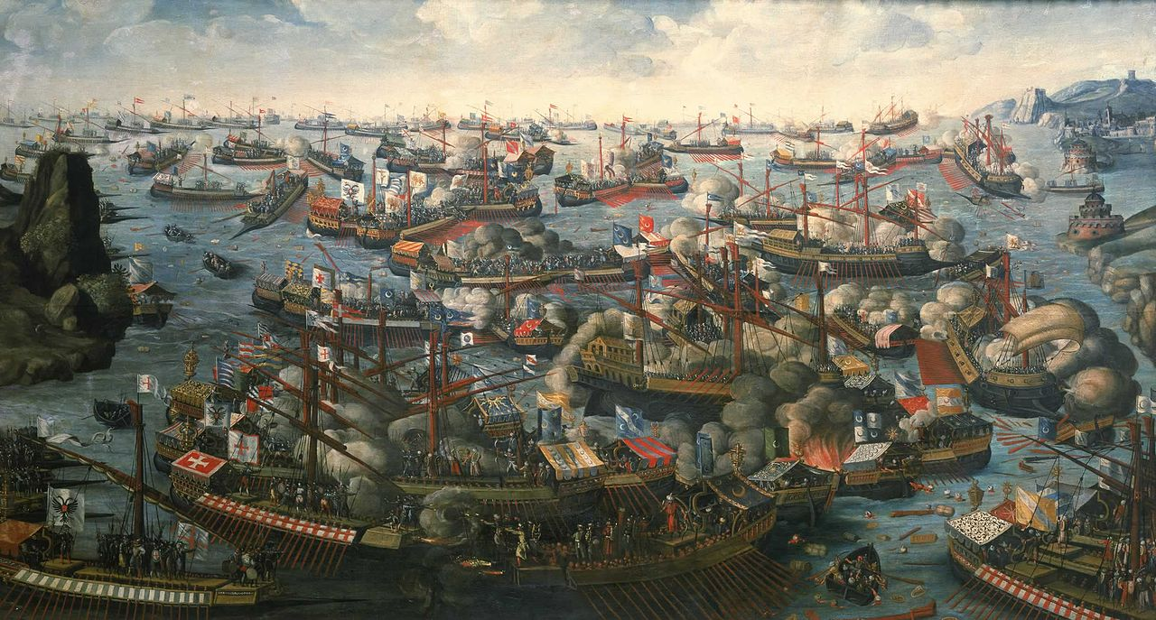 Anónimo: Batalla de Lepanto, 1571. National Maritime Museum.