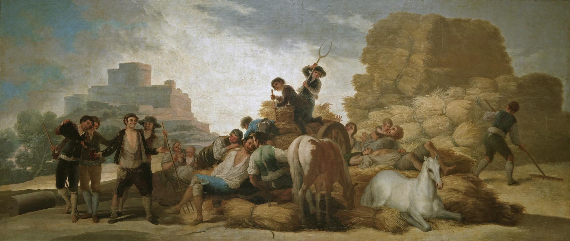 Francisco de Goya: La era o el Verano. Antes de la restauración. Museo Nacional del Prado, Madrid.