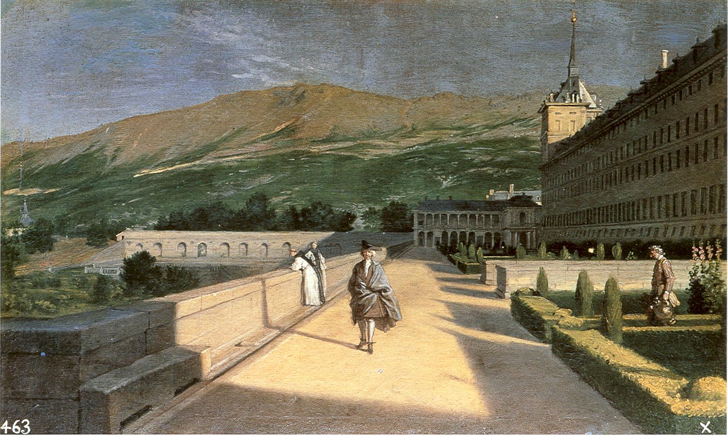 Miguel Ángel Houasse: el Jardín de los frailes en el Escorial.