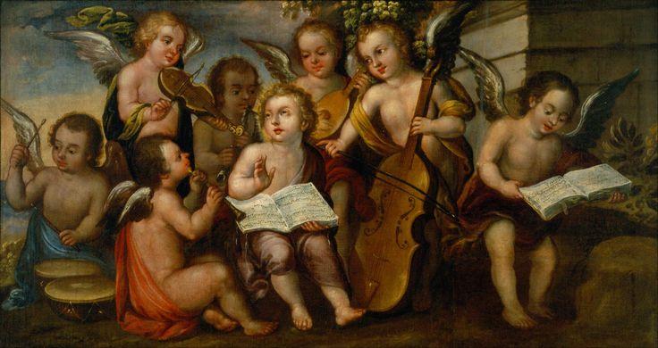 Juan Correa: El Niño Jesús con ángeles músicos. México, Museo Nacional de Arte.