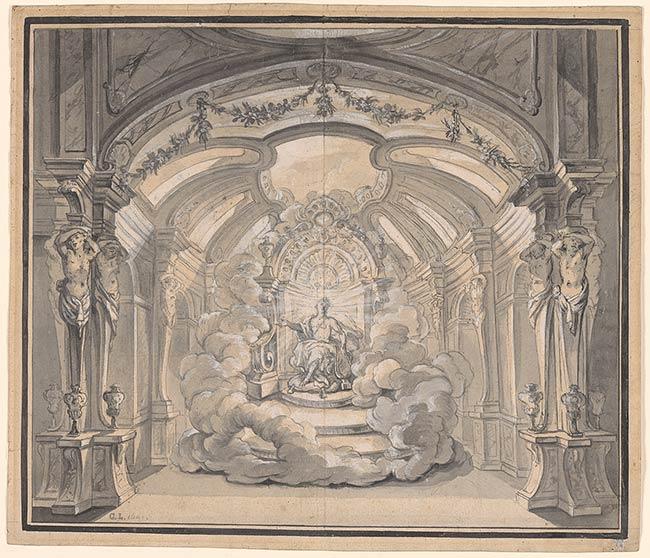 Cosme Lotti: Apolo entronizado. Morgan Library, nº inv. 1982.75:687.