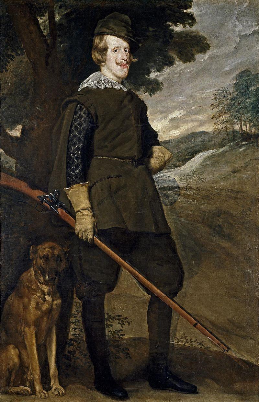 Diego de Silvla y Velázquez: Retrato de Felipe IV como cazador. Madrid, Museo Nacional del Prado.