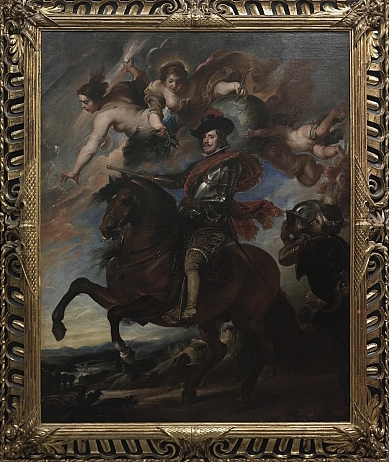 Taller de Diego Velázquez, copiando a Rubens: Felipe IV a caballo. Florencia, Galeria dellos Uffizi. © uffizi.it - Image property of Polo Museale Fiorentino.