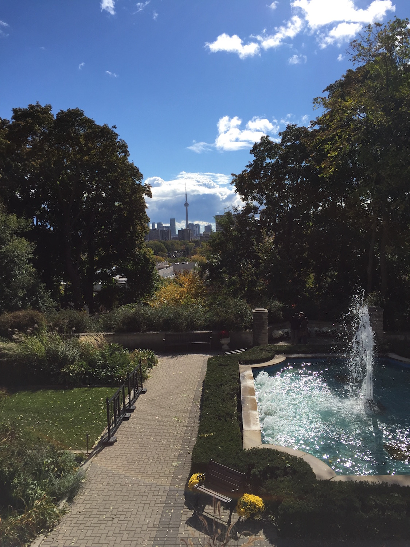 Vistas en la actualidad desde Casa Loma de la ciudad de Toronto.