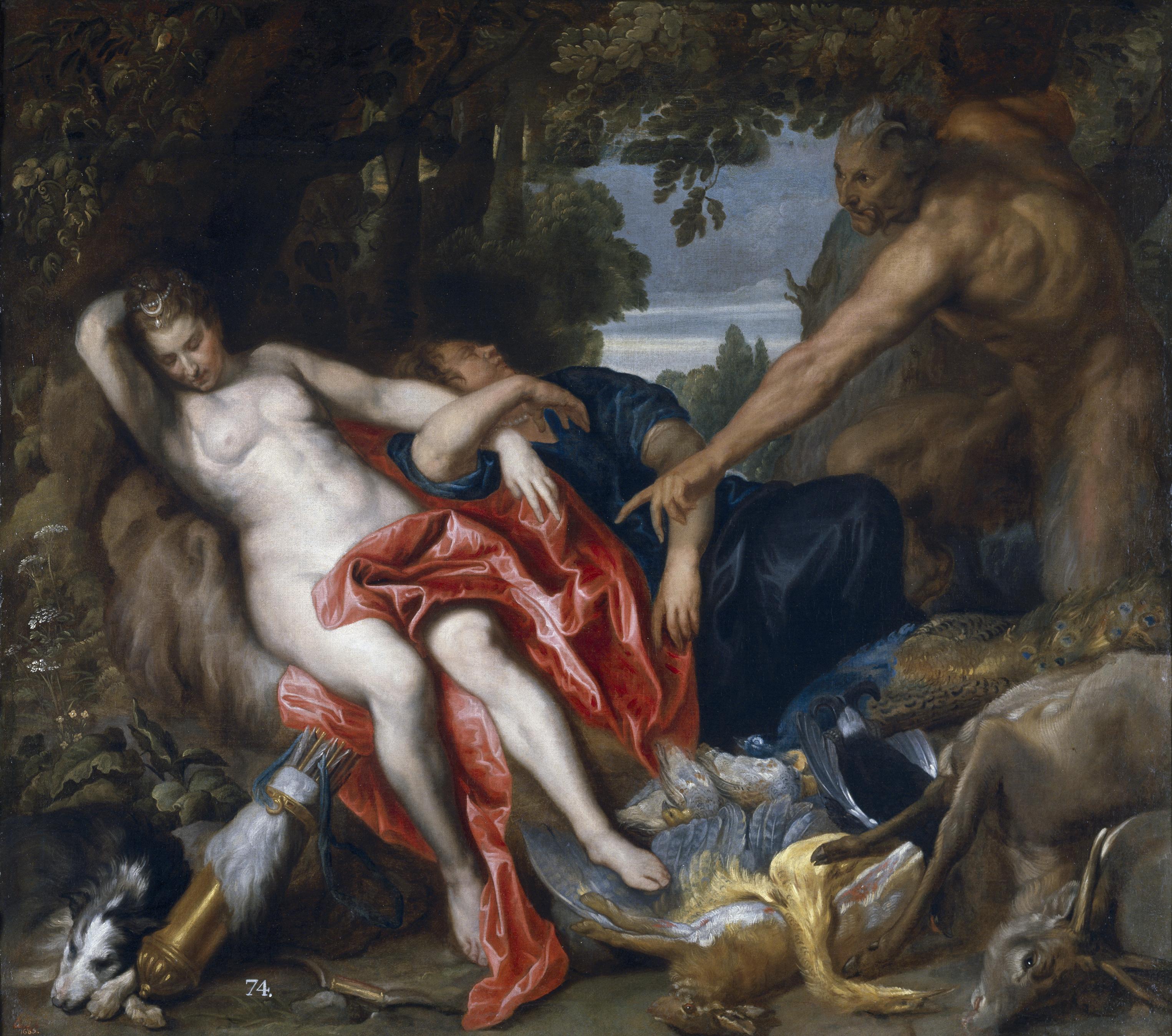 Anton Van Dyck: Diana y una ninfa sorprendidas por un sátiro, 1622-1626. Madrid, Museo Nacional del Prado.