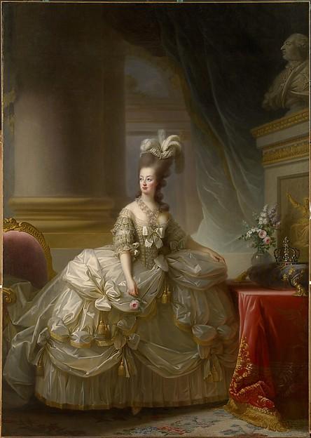 Élisabeth Louise Vigée Le Brun: Maria Antonieta en traje de Corte. Kunsthistorisches Museum, Vienna, Gemäldegalerie (GG 2772)