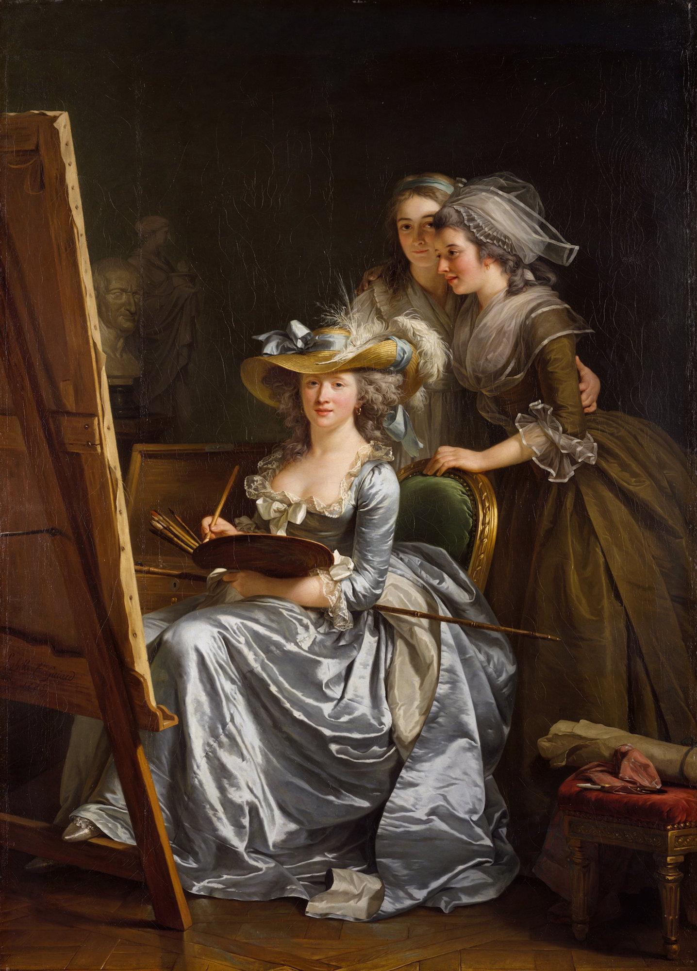 Adélaïde Labille-Guiard: Autorretrato con dos alumnas. Metropolitan Museum, Nueva York.