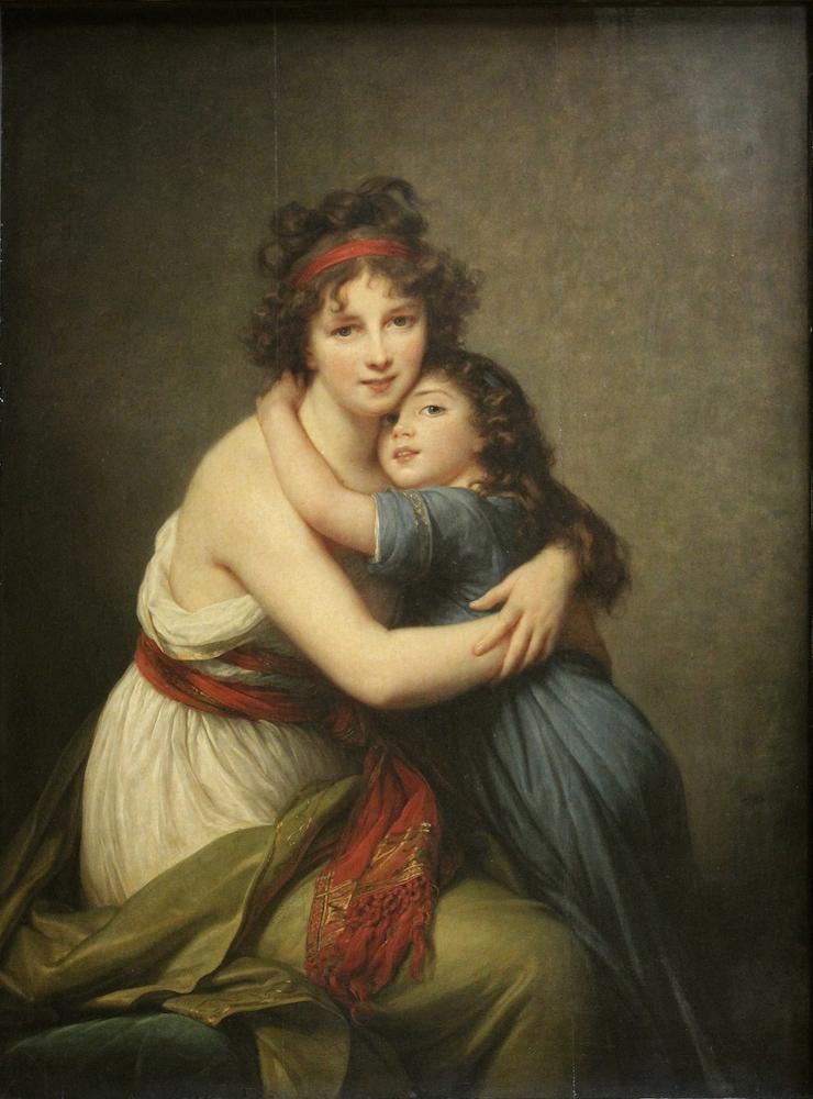 Elisabeth Louise Vigée Le Brun: Autorretrato con su hija, 1789. París, Musèe de Louvre.
