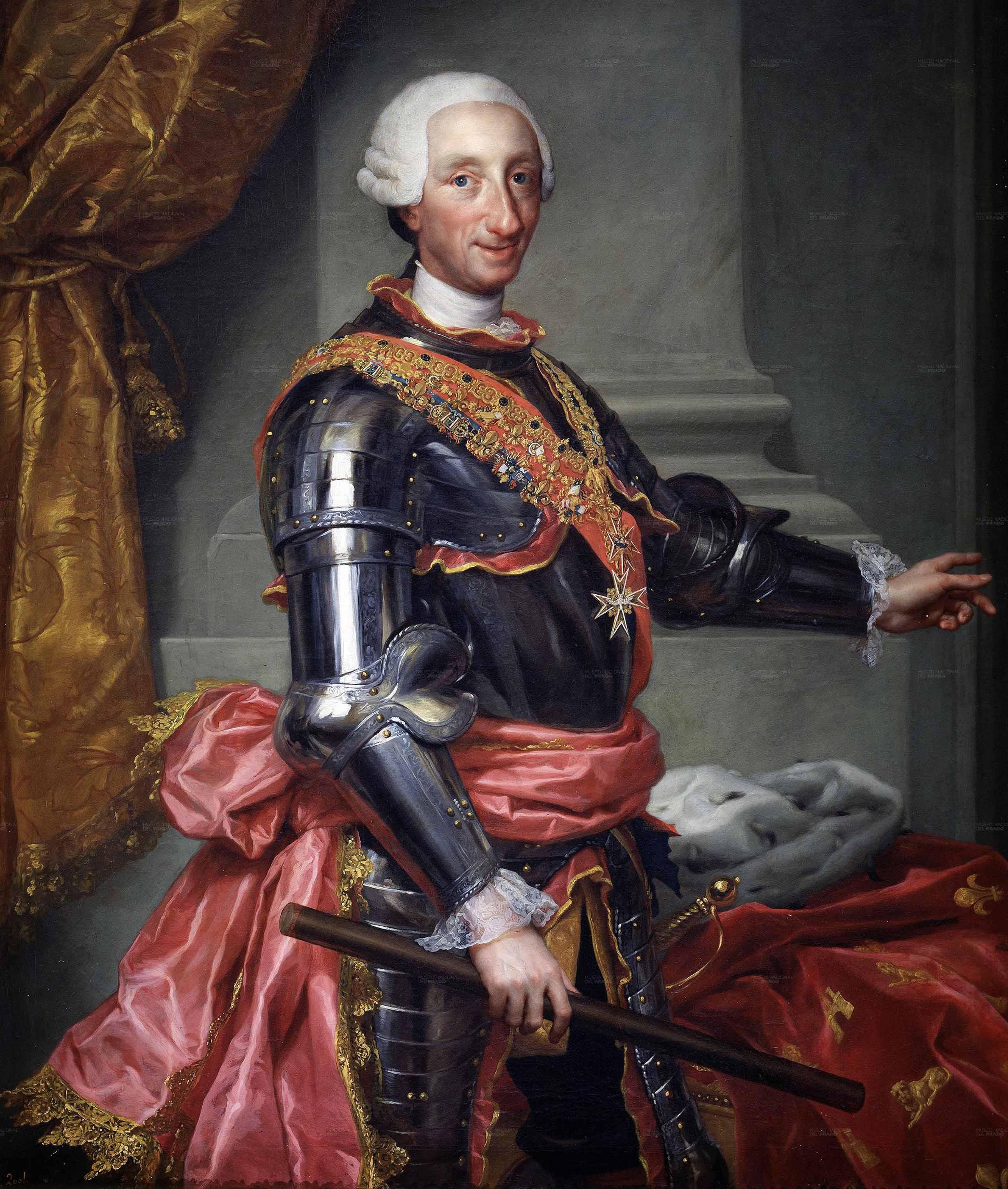 Anton Raphael Mengs: Retrato de Carlos III. Madrid, Museo Nacional del Prado.