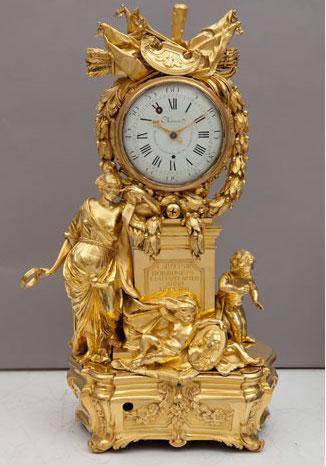 Felipe Santiago y Pedro Charost: Reloj de Sobremesa Alegoría de las Artes, ca. 1774. Madrid, Patrimonio Nacional.