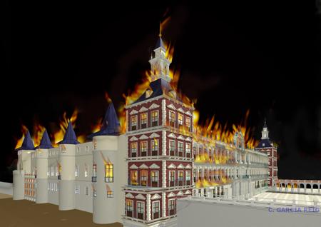 El Incendio del Alcázar de Madrid en la Nochebuena de 1734