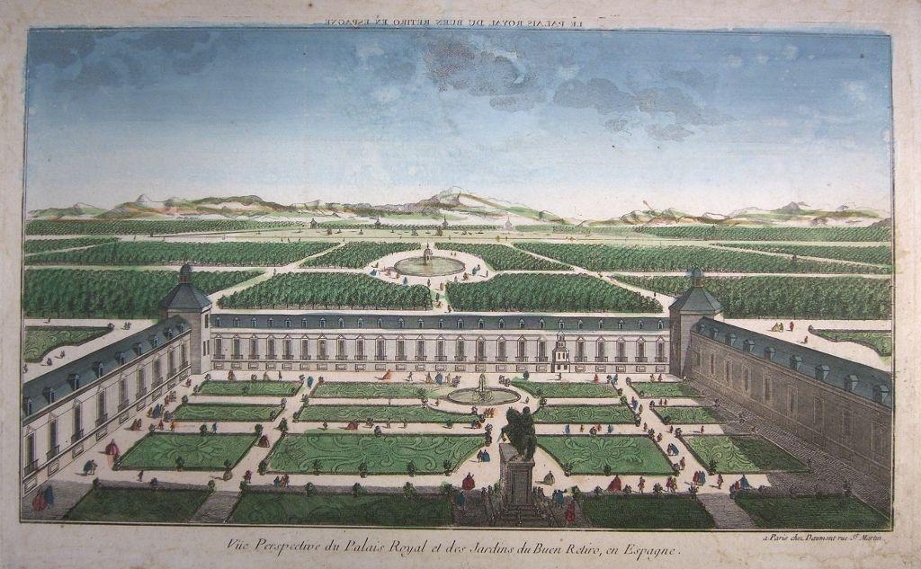 Perspectiva del Palacio del Buen Retiro y del desde el Jardín de la Reina.