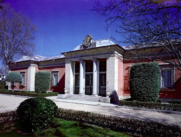 Vista exterior de la Casita del Príncipe en El Pardo.