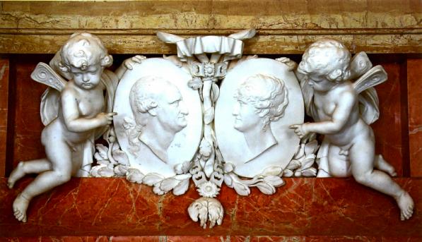 Hermenegildo Silici: Carlos IV y María Luisa de Parma. Real Casa del Labrador de Aranjuez.