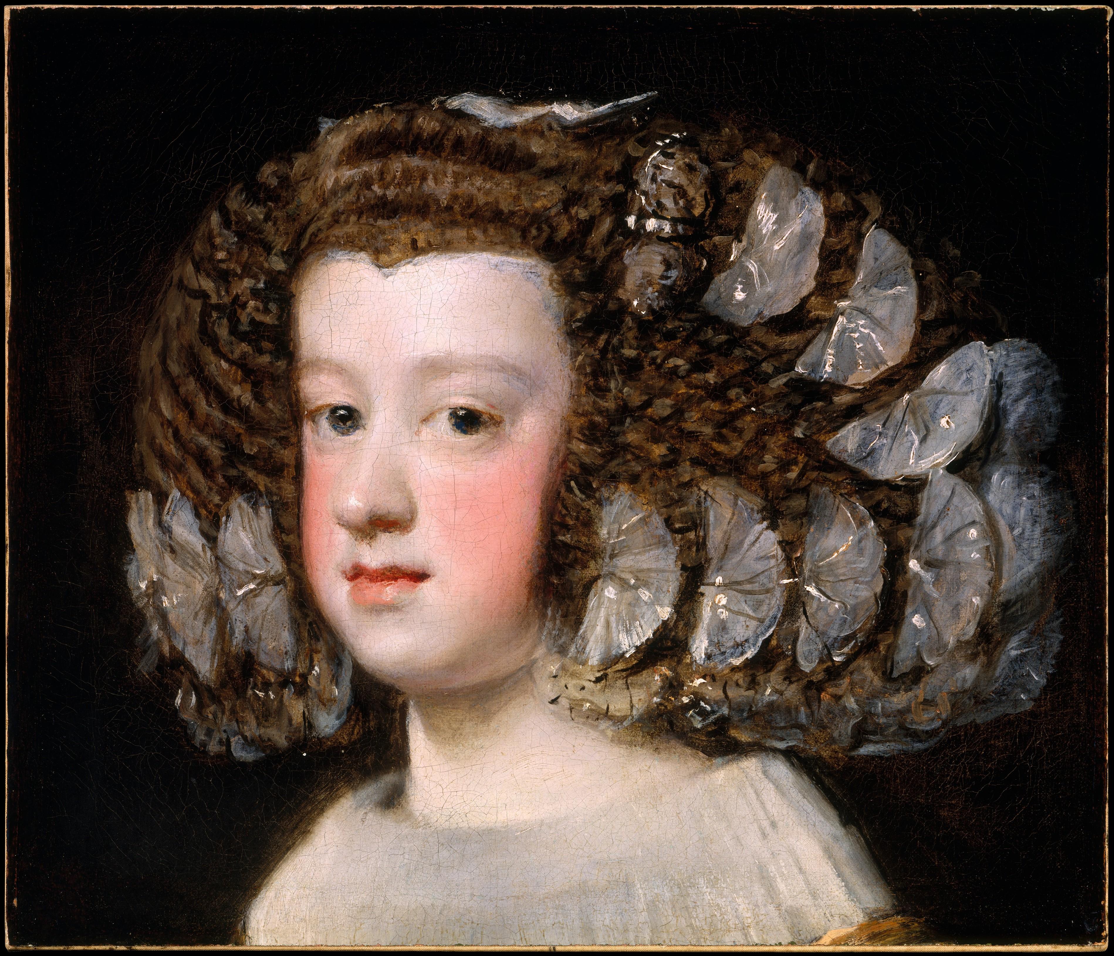 Diego Rodrigo de Silva y Velázquez: Retrato de la Infanta María Teresa. Museo Metropolitano de Nueva York.