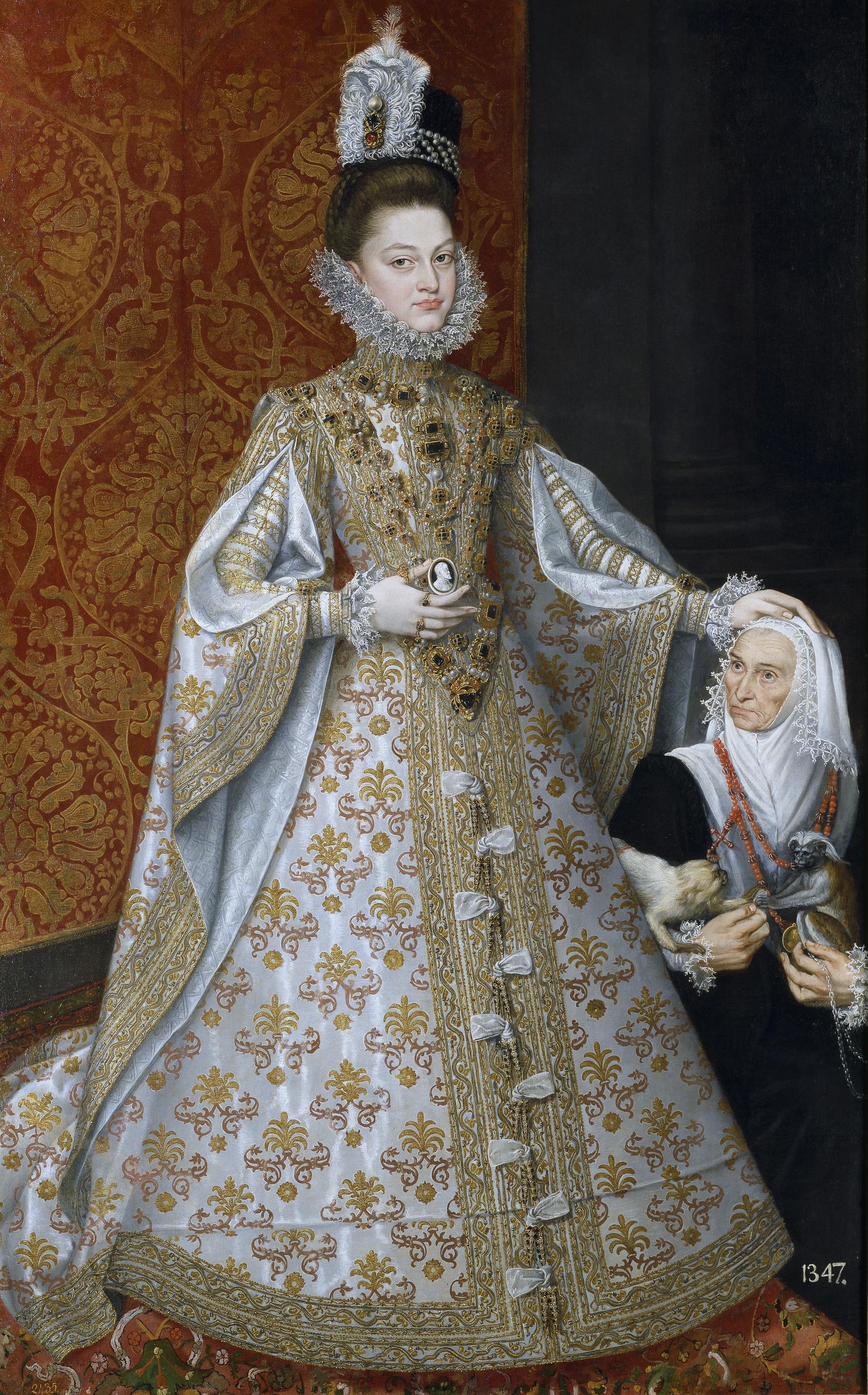 Alonso Sánchez Coello: La infanta Isabel Clara Eugenia y Magdalena Ruiz, h. 1585-1588. Madrid, Museo Nacional del Prado.