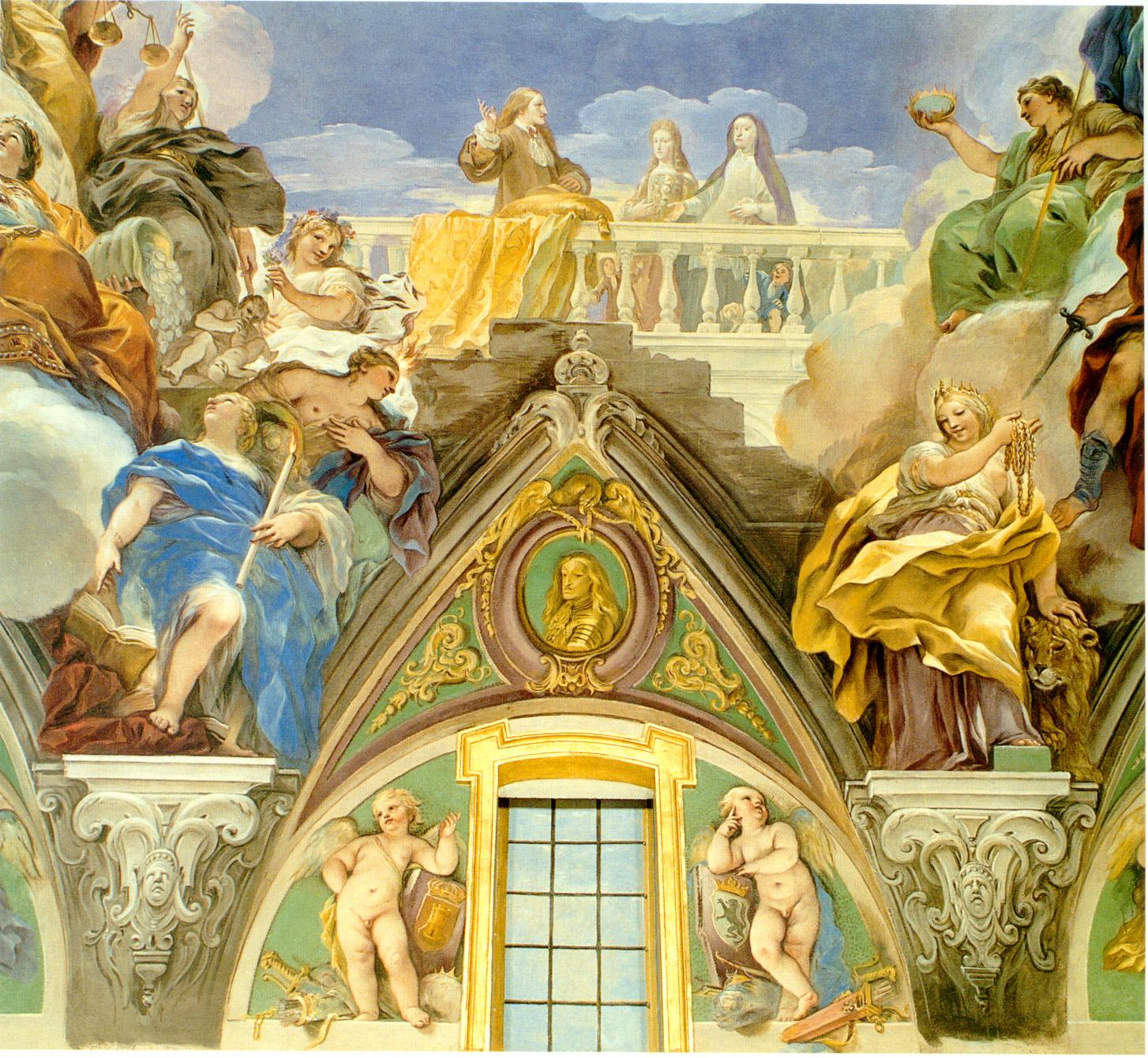 Luca Giordano: Decoración de la escalera del Real Monasterio de San Lorenzo de El Escorial.