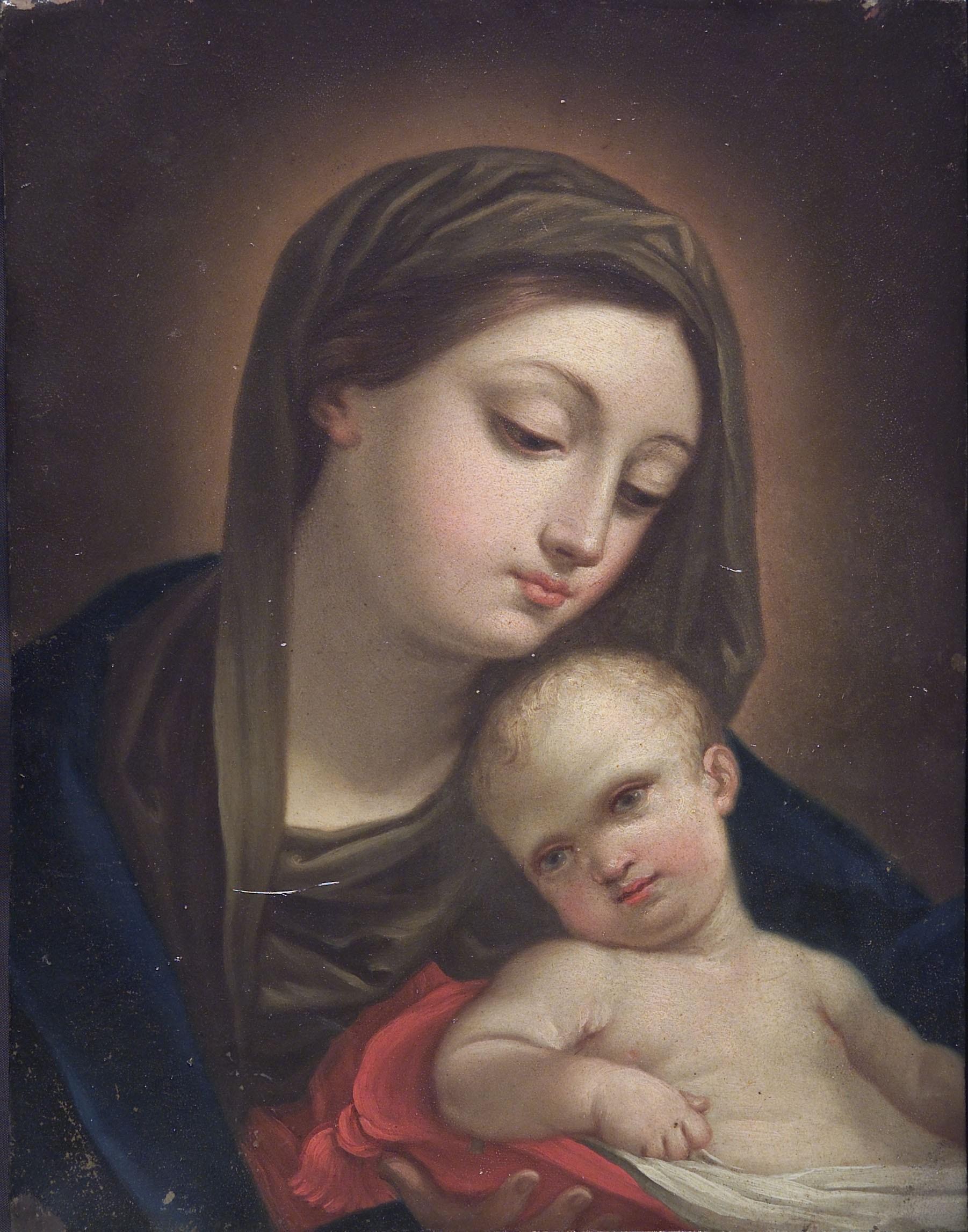 Catherina Cherubini: Virgen con el Niño, 1760. Roma, Accademia Nazionale di San Luca.