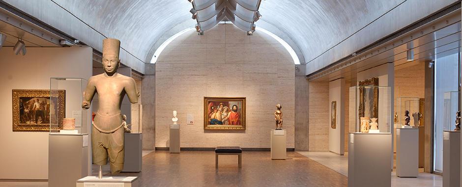 Interior de una de las galerías del Museo Kimbell.