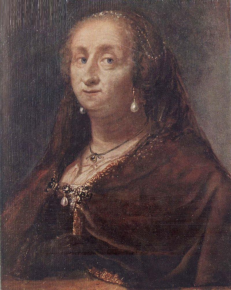 Anónimo: Retrato de la reina Cristina de Suecia durante sus últimos años de vida.