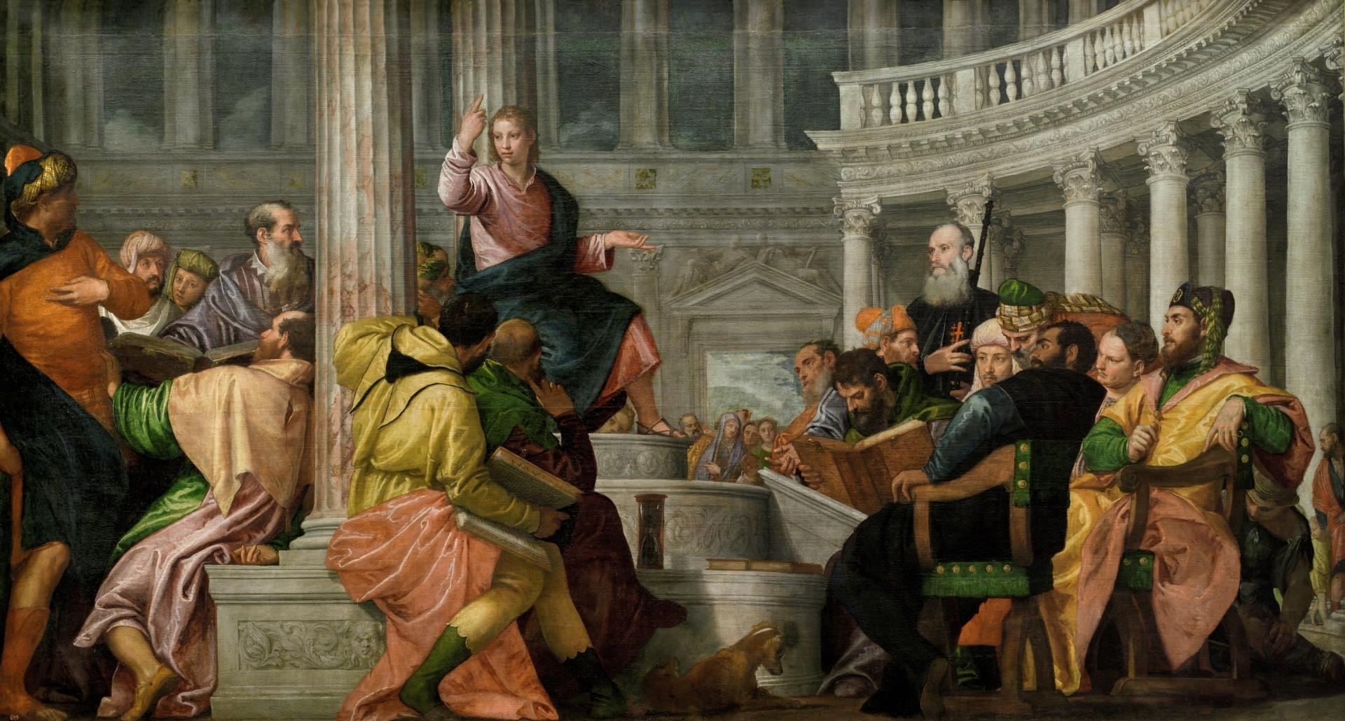 Paolo Veronés: La disputa con los doctores en el templo. Madrid, Museo Nacional del Prado.