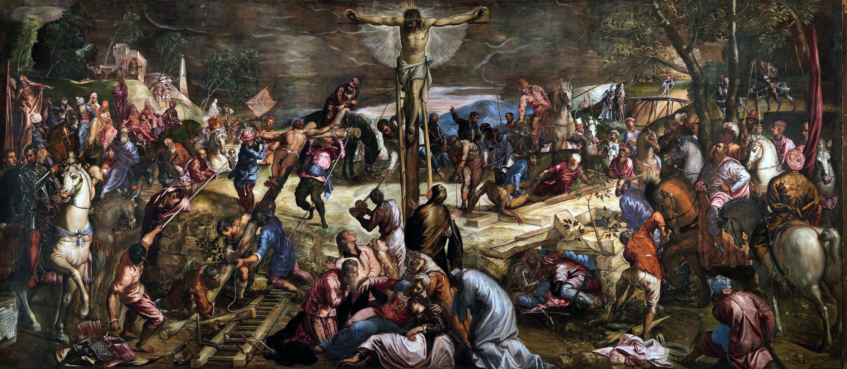 Tintoretto. Crucifixión. Scuola de San Rocco. Venecia. Foto: WGA.
