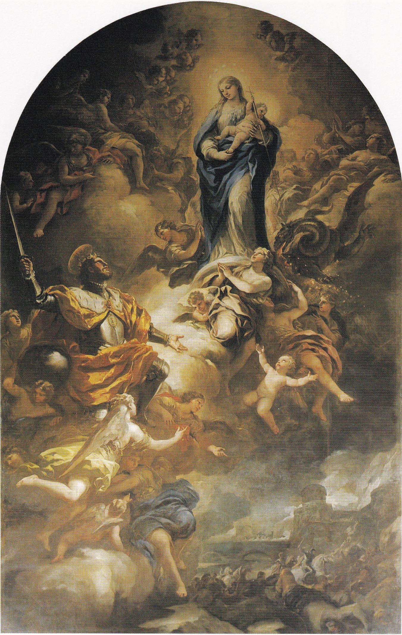 """Lo que el repinte esconde: El """"San Fernando ante la Virgen"""" de Luca Giordano"""