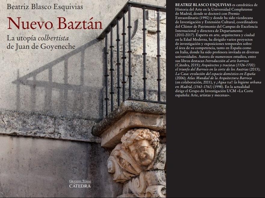 """Cuéntame un libro – Beatriz Blasco """"Nuevo Baztán. La utopía colbertista de Juan de Goyeneche"""""""